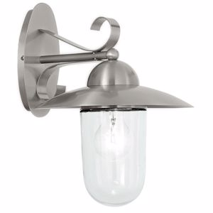 Picture of EGLO MILTON OUTDOOR WALL LAMP STEEL AND GLASS IP44