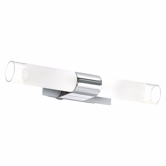Picture of MODERN LED BATHROOM MIRROR LIGHT METAL CHROME AND FROSTED GLASS