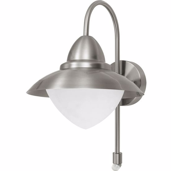 Picture of EGLO OUTDOOR WALL LIGHT WITH MOTION SENSOR STEEL AND GLASS
