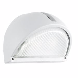 Picture of EGLO ONJA WHITE OUTDOOR WALL LAMP IN ALUMINIUM AND GLASS