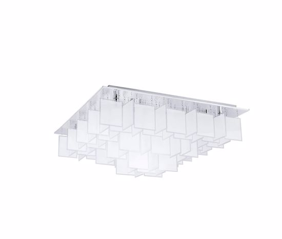Picture of EGLO CONDRADA MODERN BIG CEILING LAMP SQUARE WHITE GLASS