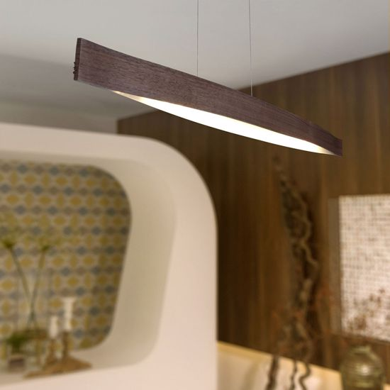 Picture of EGLO FORNES PENDANT LED 24W IN WOOD MODERN FOR TABLE