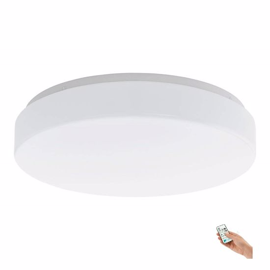 Picture of  LED CEILING LIGHT Ø38 WITH REMOTE WHITE ACRYLIC PLASTIC DIMMABLE LED