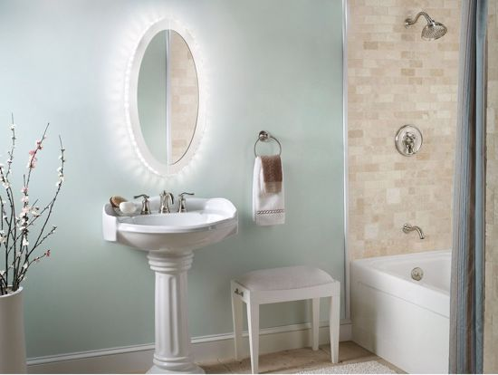 Picture of EGLO TONERIA OVAL WALL MIRROR WITH LED LIGHT AND RHINESTONES