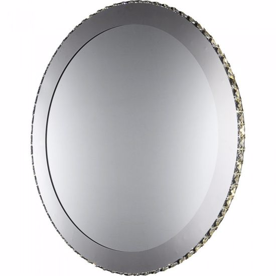 Picture of EGLO TONERIA ROUND WALL MIRROR WITH LED LIGHT AND RHINESTONES