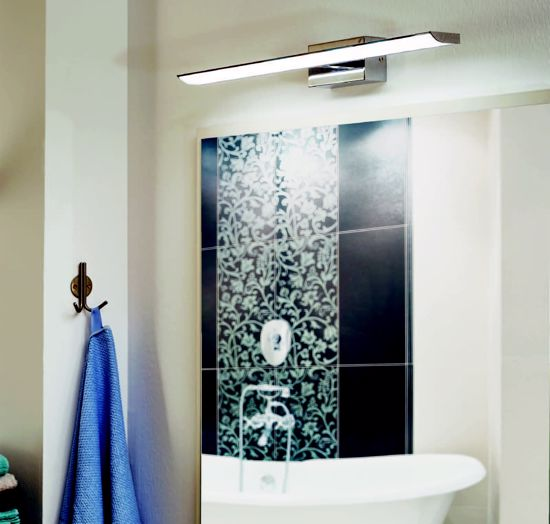Picture of LED WALL LIGHTS ABOVE MODERN BATHROOM MIRROR
