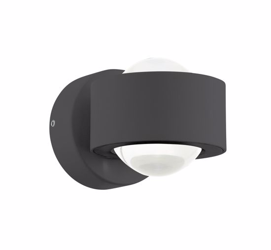 Picture of EGLO ONO 2 LED WALL LIGHT MODERN DESIGN BLACK FINISH  CURVED OPTICS