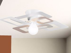 Picture of GIBAS KUADRA MODERN CEILING LAMP 60CM DOVE GREY METAL
