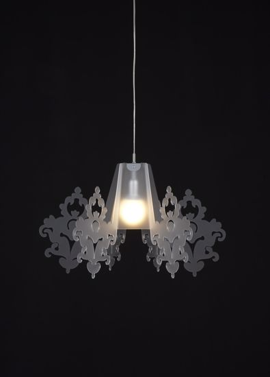 Picture of EMPORIUM AMARILLI SUSPENSION LAMP METACRYLATE OPALINE WHITE