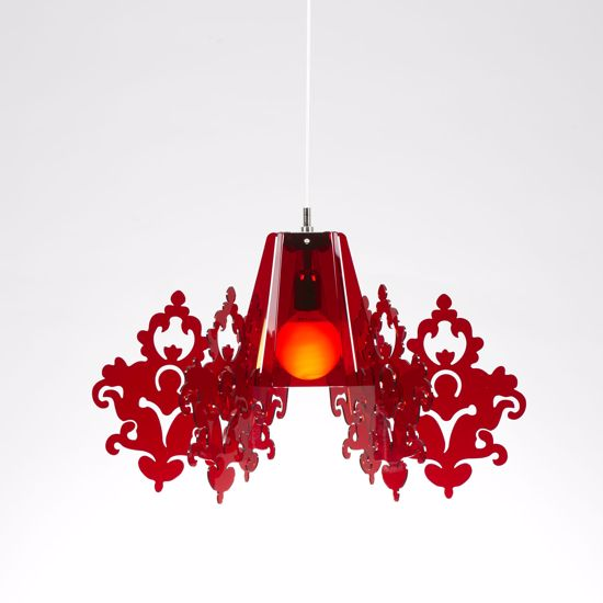Picture of EMPORIUM AMARILLI SUSPENSION LAMP METACRYLATE RED