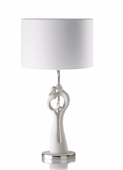 Picture of MEMORY TABLE LAMP LOVERS WHITE SHADE