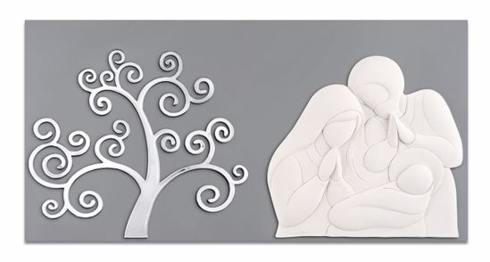 Picture of MEMORY ART ABOVE BED HOLY FAMILY TREE OF LIFE GREY BACKGROUND