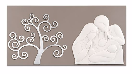 Picture of MEMORY ART ABOVE BED HOLY FAMILY TREE OF LIFE DOVE GREY BACKGROUND
