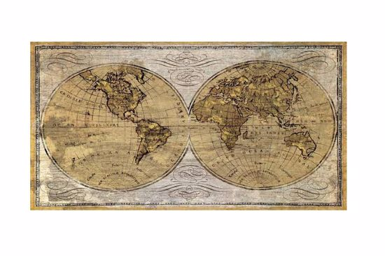 Picture of BIG WALL ART ANTIQUE WORLD MAP 200X120 VINTAGE CANVAS