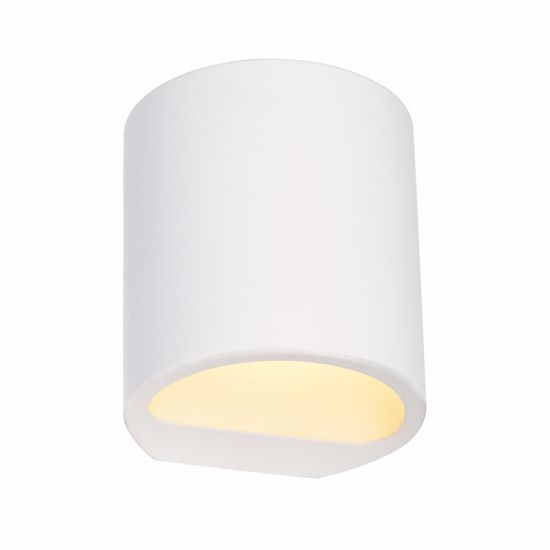 Picture of LITTLE PLASTER WALL LIGHT PAINTABLE ROUND DESIGN