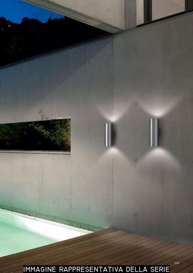 Picture of IDEAL LUX GUN AP2 SMALL OUTDOOR WALL LAMP WHITE