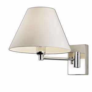 Picture of BEDSIDE CHROME LAMP WITH SHADE