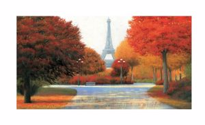 Picture of MANIE WALL ART EIFFEL TOWER IN AUTUMN 100X50