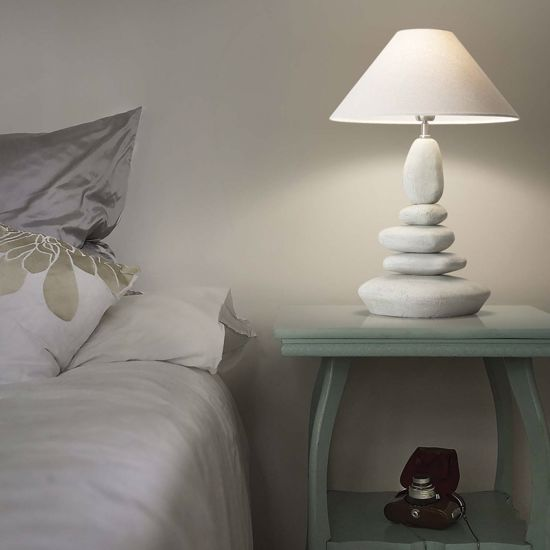 Picture of IDEAL LUX DOLOMITI TL1 BIG TABLE LAMP WITH CERAMIC ELEMENTS