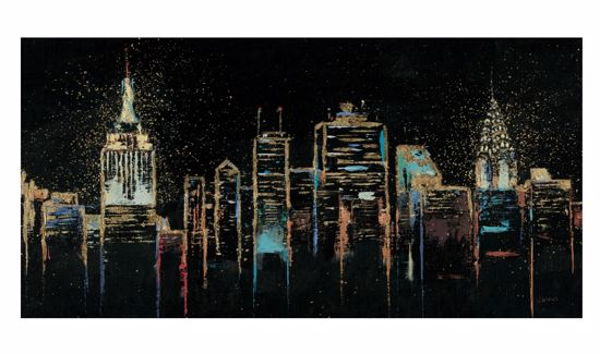 Picture of WALL ARTWORK ABSTRACT 140X70 NEW YORK CANVAS PRINT