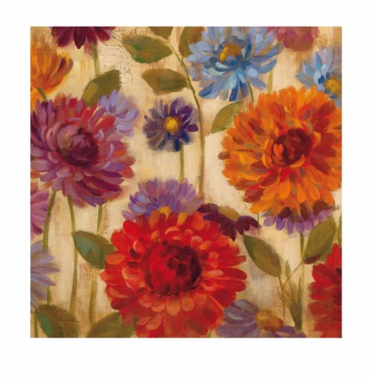Picture of MANIE ARTWORK MULTICOUR FLOWERS CANVAS 100X100