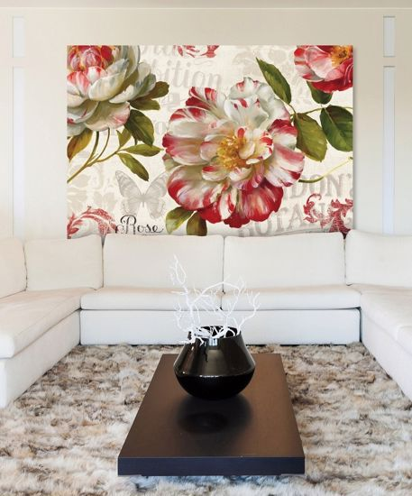Picture of WALL ART FLOWERS PRINT ON CANVAS 140X70