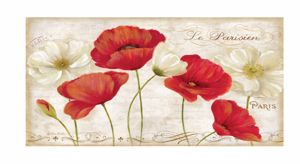 Picture of MANIE MODERN ART ABOVE BED 180X90 POPPIES CANVAS