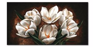 Picture of WALL ARTWORK CONTEMPORARY CANVAS PRINT FLOWERS 200X120