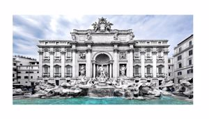 Picture of WALL ARTWORK TREVI FOUNTAIN CANVAS PRINT 140X70