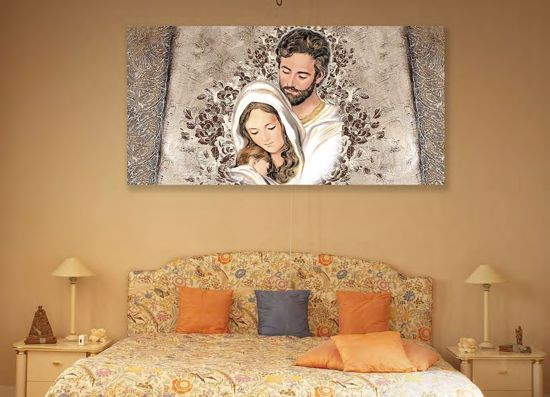Picture of CONTEMPORARY ART ABOVE BED SACRED FAMILY 70X40