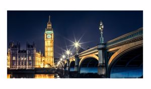 Picture of WALL ARTWORK BIG BEN LONDON 140X70 LARGE PRINT ON CANVAS