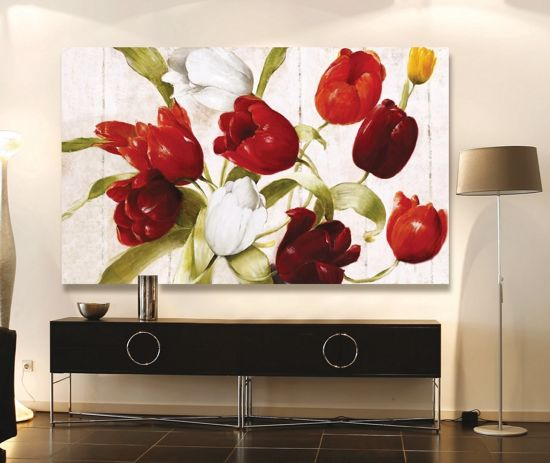 Picture of MANIE WALL ARTWORK TULIPS ON CANVAS 100X50