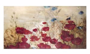 Picture of MANIE ABSTRACT CANVAS 120X90 RED POPPIES