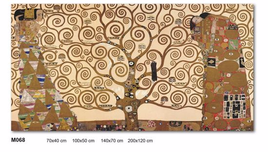 Picture of WALL ARTWORK THE TREE OF LIFE BY KLIMT LARGE PRINT ON CANVAS 100X50