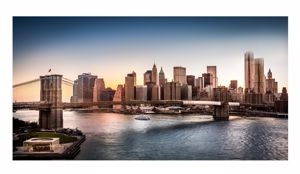 Picture of MANIE WALL ARTWORK BROOKLYN BRIDGE PRINT ON CANVAS 140X70