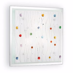 Picture of IDEAL LUX OCEAN PL3 CEILING LAMP WITH COLORED DECORATIONS