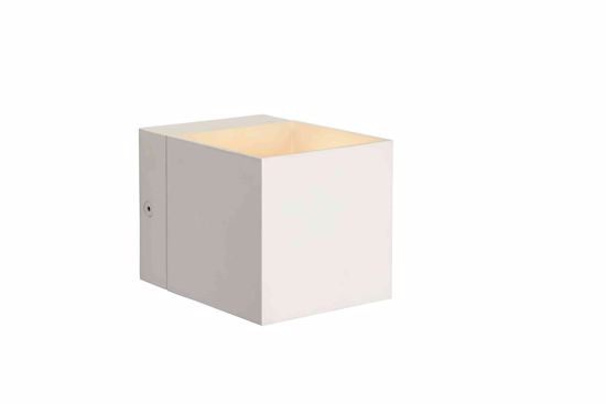 Picture of WALL LAMP CUBE WHITE METAL MODERN DESIGN ECONOMIC ITEM