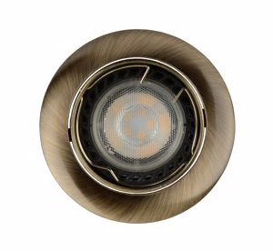 Picture of ROUND-SHAPED RECESSED LED SPOTLIGHT FOR FALSE CEILING WITH ROTATING DIMMABLE LIGHT BULB