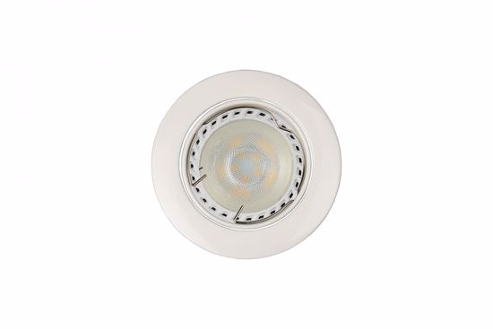 Picture of WHITE RECESSED SPOTLIGHT FOR FALSE CEILING WITH ADJUSTABLE DIMMABLE LED LIGHT