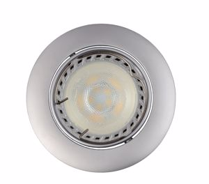 Picture of GREY RECESSED SPOTLIGHT FOR FALSE CEILING ROUND-SHAPED ADJUSTABLE LED LIGHT