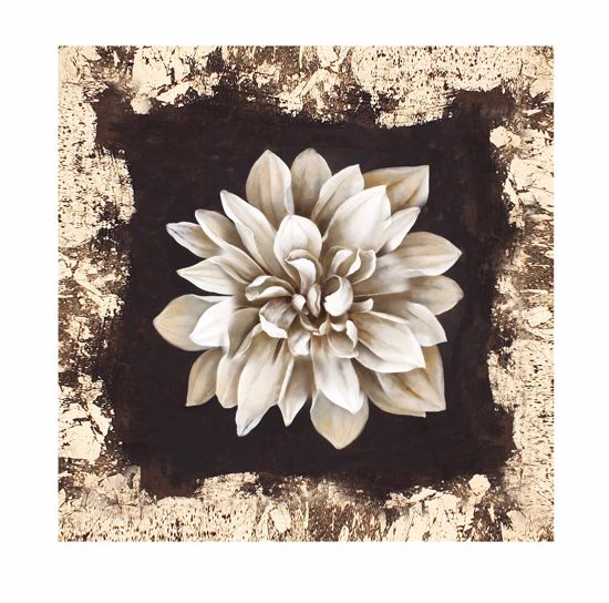 Picture of WALL ARTWORK WHITE FLOWER CANVAS PRINT 50X50