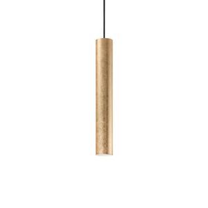 Picture of CYLINDER KITCHEN ISLAND PENDANT LIGHT IN GOLDEN LEAF ORIGINAL DESIGN BY IDEAL LUX