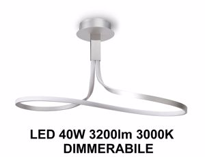 Picture of LAMPADARIO LED MODERNO LED 40W 3000K SILVER CROMO DIMMERABILE