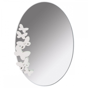 Picture of ARTI E MESTIERI OVAL BUTTERFLY WALL MIRROR WHITE COLOUR
