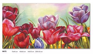 Picture of WALL ARTWORK MULTICOLOUR FLOWERS LARGE CANVAS PRINT 200X120