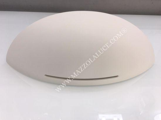 Picture of MODERN PLASTER WALL LIGHT WHITE SHELL 25CM PAINTABLE CERAMIC