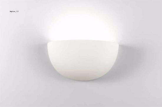 Picture of ISYLUCE WALL LAMP WHITE CERAMIC L28CM PAINTABLE