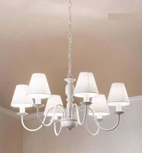 Picture of LAMPADARIO CAMERA DA LETTO BIANCO PROVENZALE SHABBY CHIC 6 LUCI