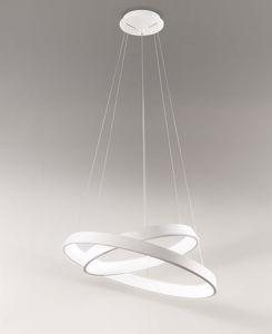 Picture of AFFRALUX ANELLI DIODI LAMPADARIO DESIGN MODERNO LED 71W 3200K 80CM BIANCO