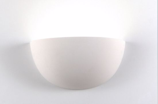 Picture of ISYLUCE SMALL WALL LAMP WHITE CERAMIC L23CM PAINTABLE